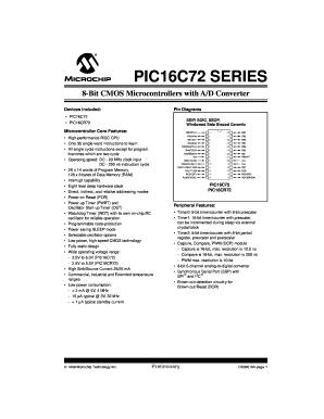 Microchip pic16c72-04/sp upverter.