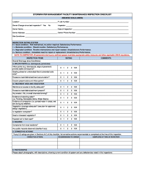 Facility Maintenance Inspection Checklist Fill Online Printable Fillable Blank Pdffiller
