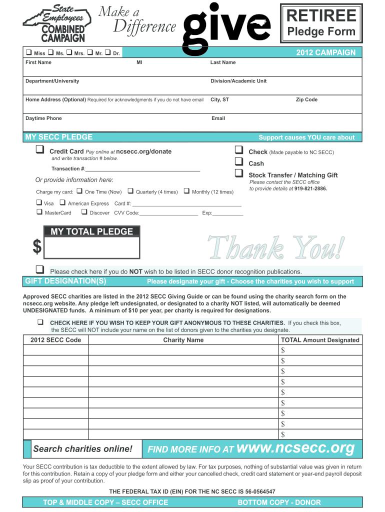 Fillable Online ncsecc q Miss q Ms - ncsecc Fax Email Print