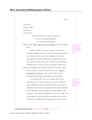 example mla annotated bibliography orlov