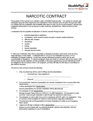 Fillable online healthplus narcotic contract healthplus of rate this form maxwellsz