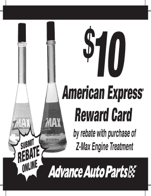 Advance Auto Parts 4myrebate Com >> Fillable Online American Express Reward Card