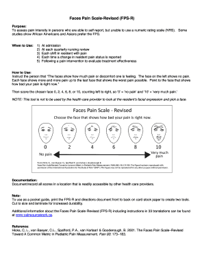 image about Faces Pain Scale Printable identify Faces Suffering Scale-Revised (FPS-R) Fill On the net, Printable