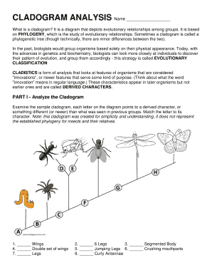 fillable online cladogram analysis lake park high school fax email print pdffiller. Black Bedroom Furniture Sets. Home Design Ideas
