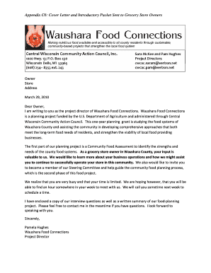 Resignation letter grocery store edit print fill out download cover letter and introductory packet sent to waushara county spiritdancerdesigns Image collections