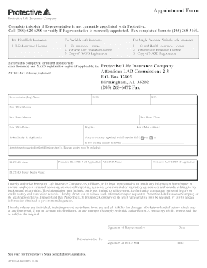 protective life insurance forms Editable Protective life insurance forms - Fillable