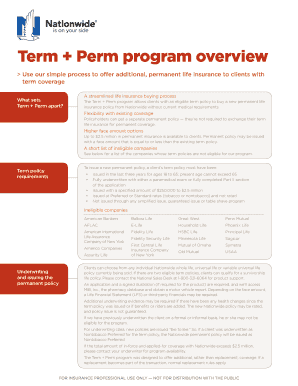 Fillable Online Term Perm program overview - Nationwide