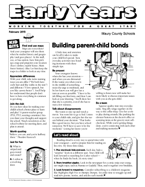 KID Building parent-child bonds - mauryk12org