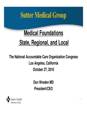 Printable sutter medical foundation authorization form - Edit, Fill