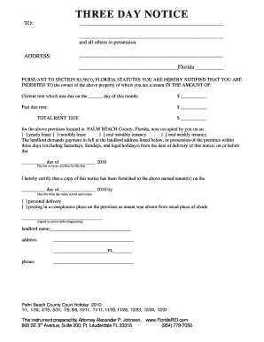 3 day notice to pay rent florida pdf edit fill print download 3 day pb formdoc thecheapjerseys Choice Image