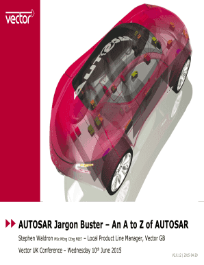 Fillable Online AUTOSAR Jargon Buster An A to Z of AUTOSAR