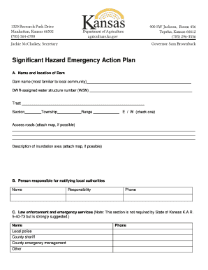 Significant Hazard Emergency Action Plan