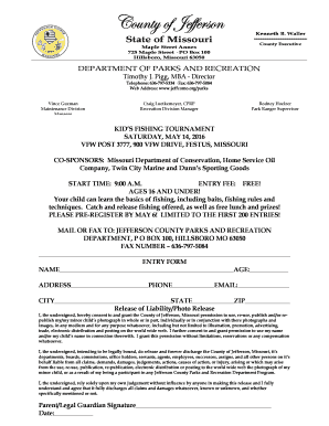 Kids Fishing Tournament Registration Form 2016 - parksres jeffcomo