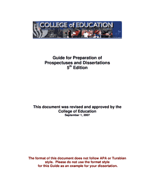 guide for preparation of