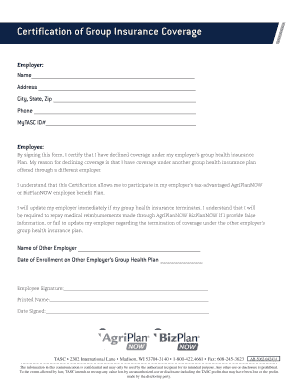 employee decline health insurance form - Edit, Fill Out ...