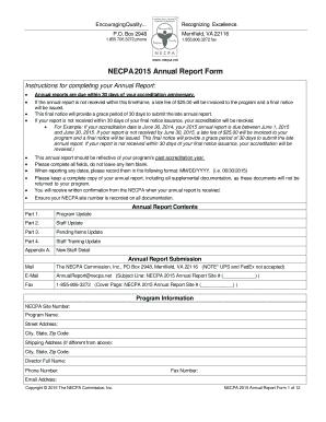 Wwwbnecpanetb NECPA 2015 Annual Report Form