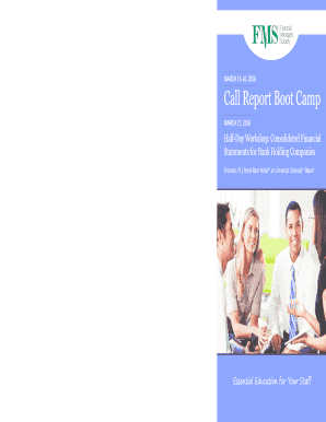 Page 1 Call Report Boot Camp MARCH 15-16 2016 Orlando FL