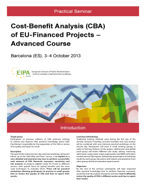 CostBenefit Analysis (CBA)