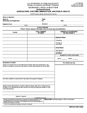 CBP Form 7507 - Duty Free Express Fill Online, Printable, Fillable