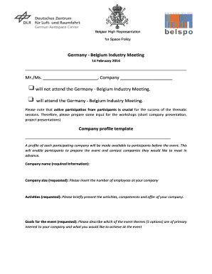 company profile presentation sample - Fill Out Online Forms