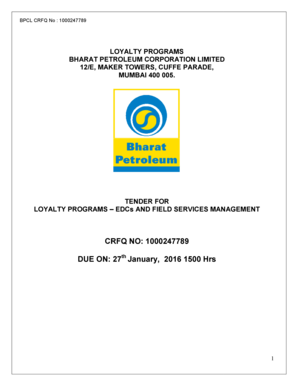 LOYALTY PROGRAMS BHARAT PETROLEUM CORPORATION LIMITED 12E