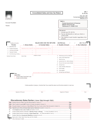 Fillable Online DR-7 and DR-15CON R 01-12 8-11-11pdf - Florida ...