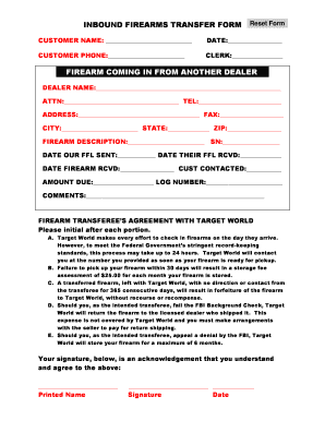 picture regarding Printable Firearm Log titled FIREARM Go Kind Fill On line, Printable, Fillable