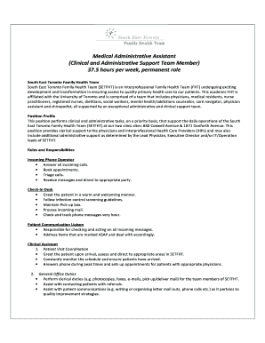 Administrative Assistant Cover Letter Samples 2015 Clinical And Support Team Member