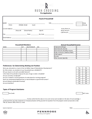 Pre exercise screening forms fill online printable fillable pre application head of household rentcafe pronofoot35fo Choice Image