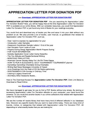 Fillable online appreciation letter for donation appreciation letter fill online altavistaventures Images