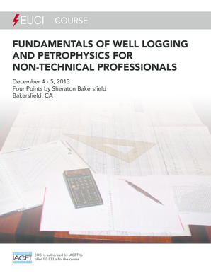 Fillable Online Fundamentals oF Well logging and PetroPhysics For
