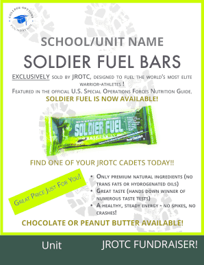 fillable online soldier fuel bars college options fax email print