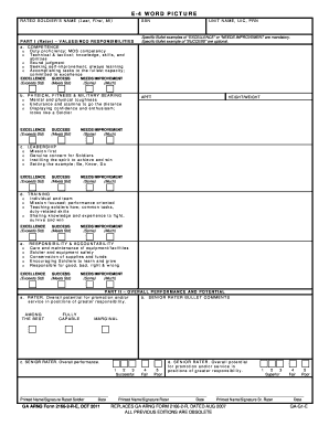 Da Form 2166-8 Templates - Fillable & Printable Samples for PDF ...