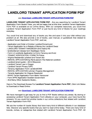 Landlord tenant bapplicationb form pdf - tolianbiz Home Fill
