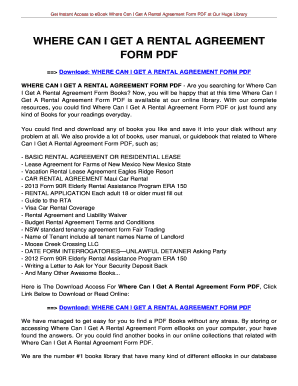 House Rent Agreement Form Pdfat Fill Online Printable