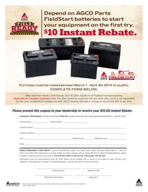 Fillable Online Depend on AGCO Parts Fax Email Print - PDFfiller