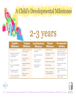 A Childs Developmental Milestones - bacetonlineorgb