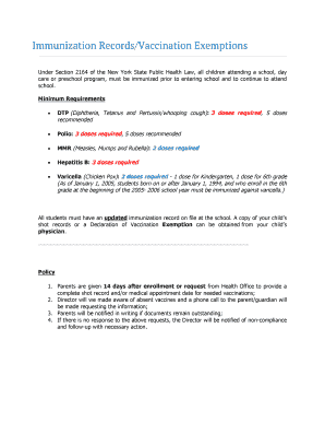 Immunization Exemption Letter Sample Edit Online Fill Print