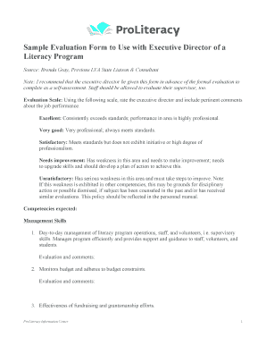 Program Evaluation Template | Sample Program Evaluation Template Forms Fillable Printable