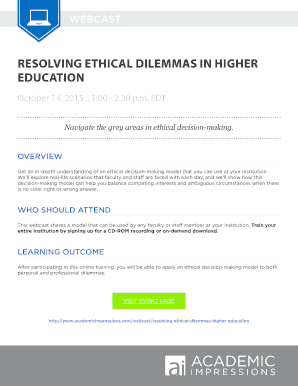 ethical dilemmas in education scenarios - Edit, Fill Out