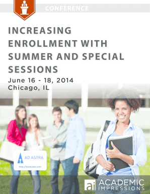 INCREASING ENROLLMENT WITH SUMMER AND SPECIAL SESSIONS