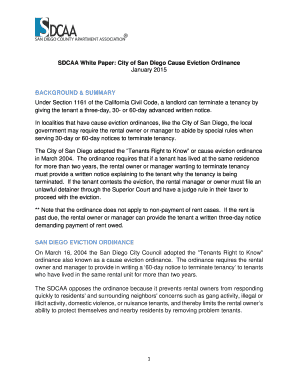 30 day notice to landlord california to download in word pdf sdcaa white paper city of san diego cause eviction ordinance altavistaventures Image collections