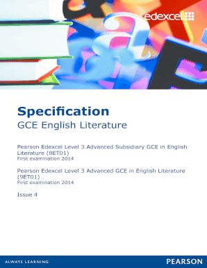 gce english literature Gce english literature unit h472/01: drama and poetry pre- 1900 advanced gce mark scheme for june 2017 ocr (oxford cambridge and rsa) is a leading uk awarding body, providing a wide range of qualifications to meet the needs of candidates of all ages and abilities ocr qualifications.