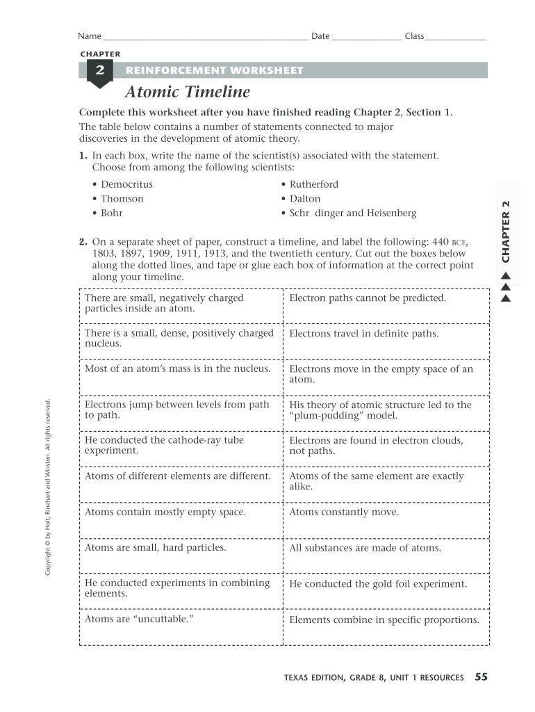 Make An Atomic Theory Timeline Worksheet Answer Key - Fill Online Inside Development Of Atomic Theory Worksheet