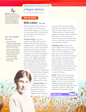 willa cather a wagner matinee
