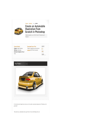 Fillable Online Create an Automobile Illustration From Scratch in