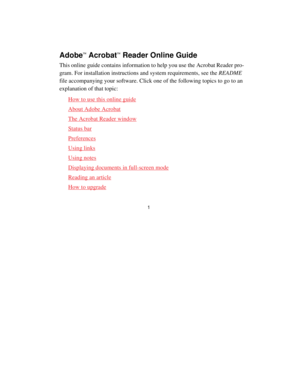 This online guide contains information to help you use the Acrobat Reader program - www-bib hive