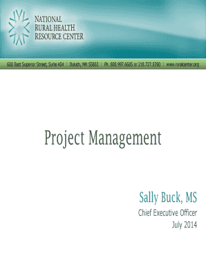 Project Management - ruralcenterorg