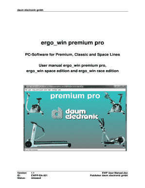 Ergowin premium pro User Manual ergowin premium pro space and race edition - daum-electronic