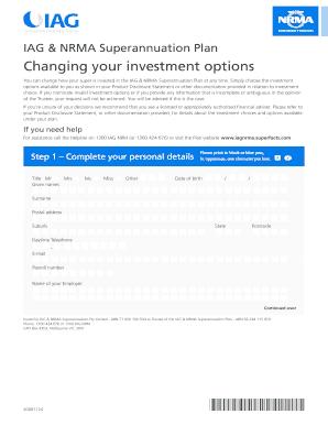 Unisuper changing investment option